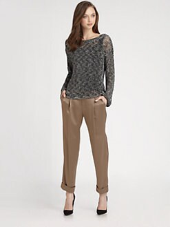 Alice + Olivia - Ethan Two-Tone Pullover