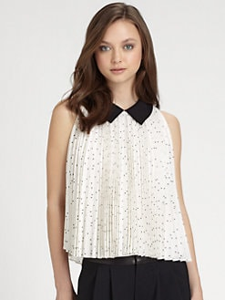 Alice + Olivia - Mayre Pleated Top