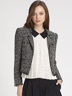 Alice + Olivia - Kaelyn Tweed Jacket