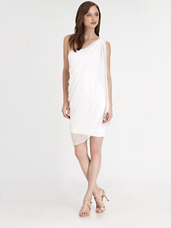 Alice + Olivia - One-Shoulder Gathered Dress