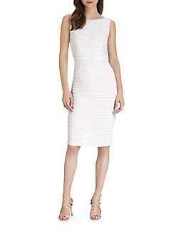Alice + Olivia - Boatneck Ruched Dress