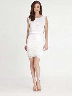 Alice + Olivia - Draped Boatneck Dress