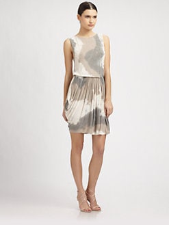 Alice + Olivia - Boatneck Tie Dye Dress