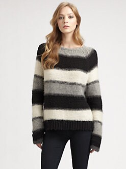 Alice + Olivia - Striped Alpaca Sweater