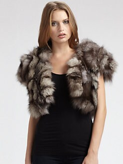Alice + Olivia - Fox Fur Shrug