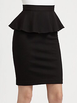 Alice + Olivia - Natasha Peplum Pencil Skirt