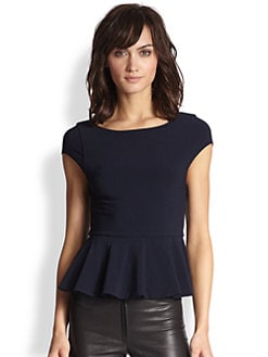 Alice + Olivia - Ella Peplum Top
