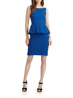 Alice + Olivia - June Pleated Peplum Dress