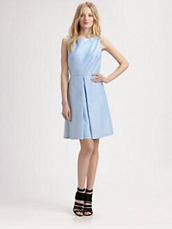Alice + Olivia - Lyla Leather Boatneck Dress