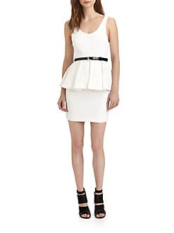 Alice + Olivia - Moira Sleeveless Peplum Dress