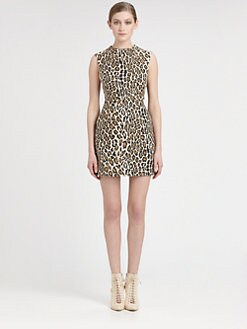 Alice + Olivia - Animal Print Cutout Dress