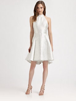 Alice + Olivia - Corina Short Trapeze Dress