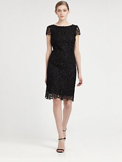 Alice + Olivia - Open Back Lace Dress