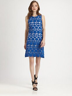 Alice + Olivia - Dot Sleeveless Shift Dress