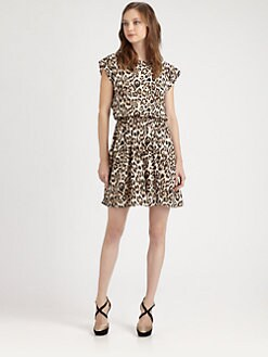 Alice + Olivia - Shellie Back Drape Dress