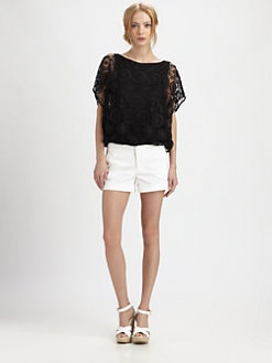 Alice + Olivia - Cheryl Open Shoulder Top