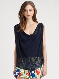 Alice + Olivia - Thora Cowl Neck Top
