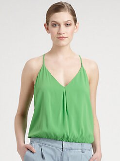 Alice + Olivia - Stretch Silk Blouson Top