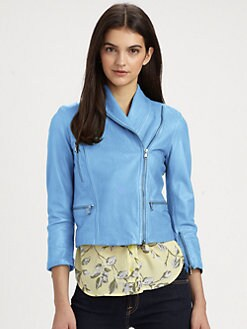 Alice + Olivia - Paradise Cropped Leather Jacket