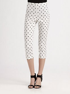 Alice + Olivia - High Waist Back Zipper Capri