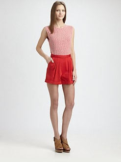 Alice + Olivia - Cuffed Shorts Romper