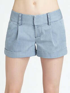 Alice + Olivia - Eric Cuffed Shorts