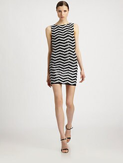 Alice + Olivia - Sumie Sequin-Stripe Dress
