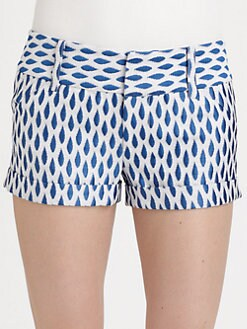 Alice + Olivia - Cropped Cuff Shorts