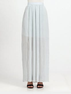 Alice + Olivia - Pleated Overlay Skirt