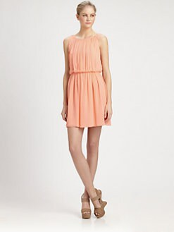 Alice + Olivia - Mary Gathered Silk Dress