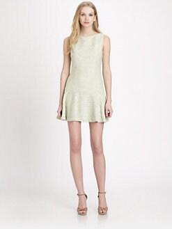 Alice + Olivia - Drop-Waist Textured Dress