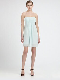Alice + Olivia - Stretch Silk Cutout Dress