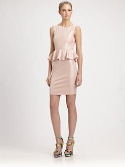 Alice + Olivia - Tracey Sleeveless Peplum Dress