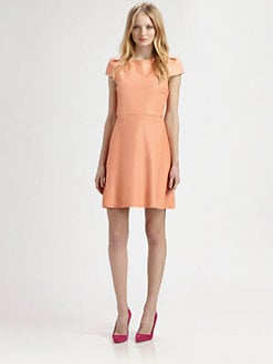 Alice + Olivia - Finn Leather Boatneck Dress