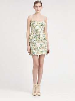 Alice + Olivia - Floral Bustier Dress