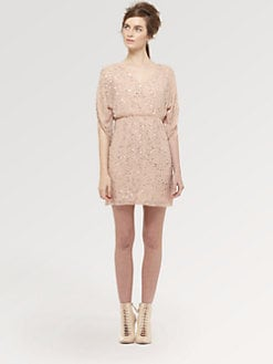 Alice + Olivia - Olympic Embellished Silk Dress