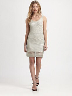 Alice + Olivia - Gabby Metallic Dress