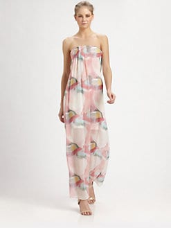 Alice + Olivia - Kiernan Strapless Silk Dress