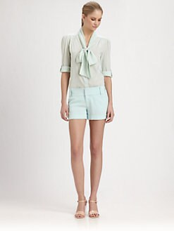 Alice + Olivia - Arie Tied-Collar Blouse