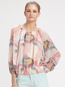 Alice + Olivia - Tama Puff Sleeve Top