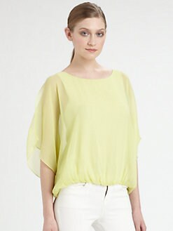 Alice + Olivia - Split Batwing Blouse