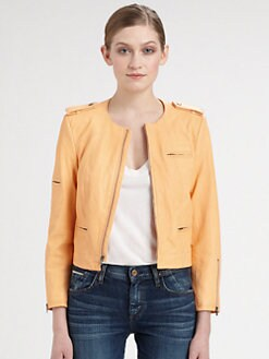 Alice + Olivia - Zippered Leather Jacket