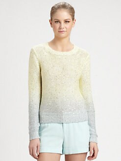 Alice + Olivia - Kie Dip-Dye Sequin Top