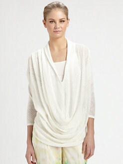 Alice + Olivia - Morgan Pointelle Draped Top