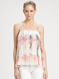 Alice + Olivia - Meena Spaghetti Strap Silk Top
