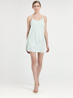 Alice + Olivia - Draped Silk Dress