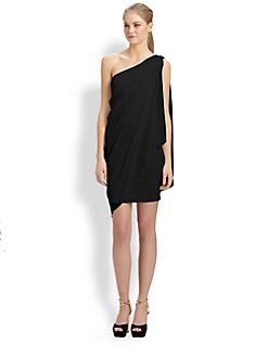 Alice + Olivia - Draped One-Shoulder Dress
