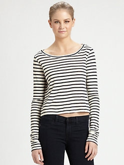 Alice + Olivia - Linen Crop Top