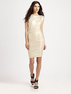 Alice + Olivia - Ruched Boatneck Dress