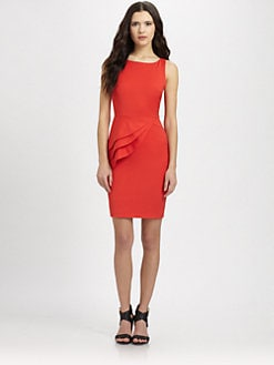 Alice + Olivia - Side Peplum Sheath Dress
